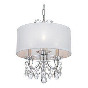 Crystorama Othello 3-Light Clear Spectra Crystal Polished Chrome Mini Chandelier