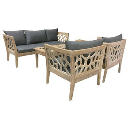 Superb Transitional Outdoor Lounge Sets by BHome Teak Furniture