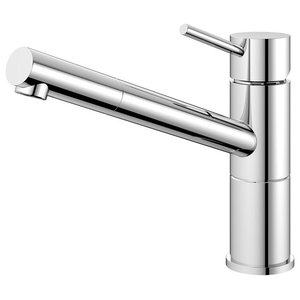 Flow Kitchen Mixer Tap, High Gloss Stainless Steel