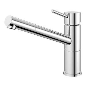 Flow Kitchen Mixer Tap, High Gloss Stainless Steel