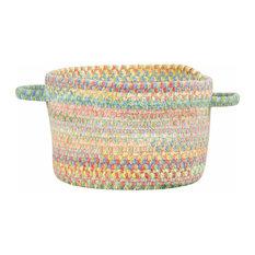 "Baby's Breath Braided Basket, Light Green, 16""x16""x9"""