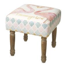 Rustic Footstool, 35 cm, Flamingo Design