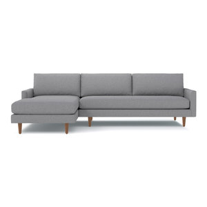 Scott 2-Piece Sectional Sofa, Mountain Gray, Chaise on Left