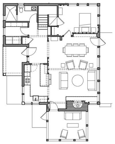 Farmhouse Floor Plan by Albertsson Hansen Architecture, Ltd