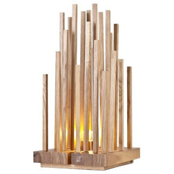 Contemporary Table Lamps Wooden Twig Table Lamp For Home Decoration Jungle