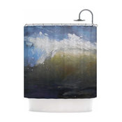 """Carol Schiff """"The Curl"""" Nautical Painting Shower Curtain"""