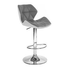 Set Of 2 Spyder Contemporary Adjustable Barstool - Modern Comfortable Adjusting