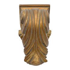 "Urbanest - Cameau Drapery Sconce, 2"" Diameter, English Gold - Window Treatment Accessories"