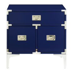 MOD   Presley Side Table, Navy Blue   Nightstands And Bedside Tables