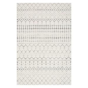 Moroccan Blythe Contemporary Area Rug, Gray, 8'x10'