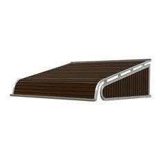 """1500 Series Aluminum Door Canopy 84""""x24"""" Projection, Brown"""