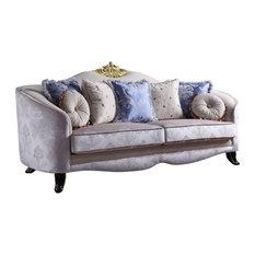 Acme Traditional Sheridan Sofa With Cream Fabric Finish 53945