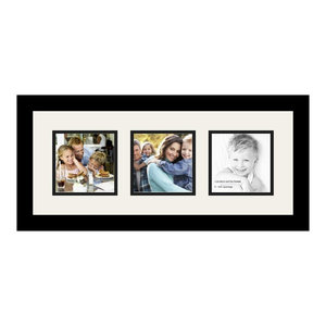 ArtToFrames Collage Photo Frame  with 3 - 5x5 Openings
