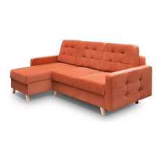 MEBLE FURNITURE U0026 RUGS   Vegas Futon Sectional Sofa Bed, Queen Sleeper With  Storage,