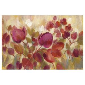 Global Gallery Silvia Vassileva Magenta Branch I Giclee Stretched Canvas Artwork 30 x 30