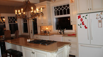 """Kitchen designed to compliment """"Turn of the Century"""" farm home"""