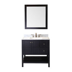 "Winterfell 36"" Single Bathroom Vanity Cabinet Set, Espresso"