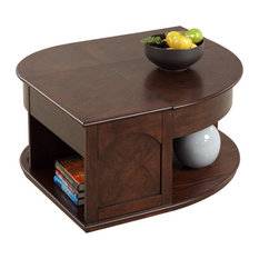 P543-25 Castered Double Lift-Top Cocktail Table