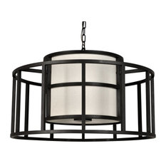 Crystorama Lighting Group 9595 Hulton Chandelier, Matte Black