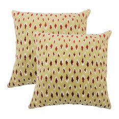 Ontibile Ikat Throw Pillows, Set of 2, Cayenne