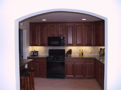 The Custom Cabinets Had 39 Uppers Doors Did Not Go To Tops Of So There Was Face Frame Which Single Piece Crown Attached