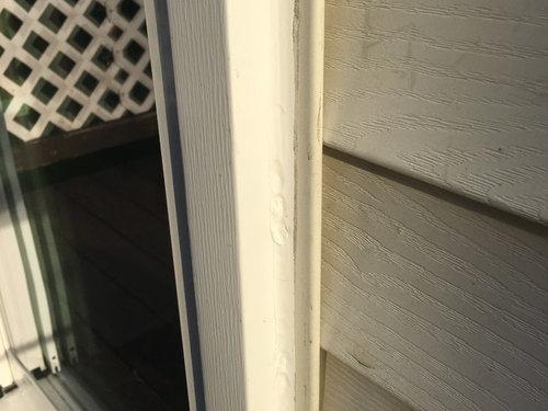 New Sliding Glass Door Lots Of Caulk