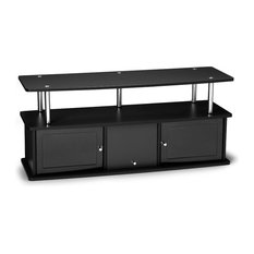 Convenience Concetps   TV Stand With 3 Cabinets, Black   Entertainment  Centers And Tv Stands