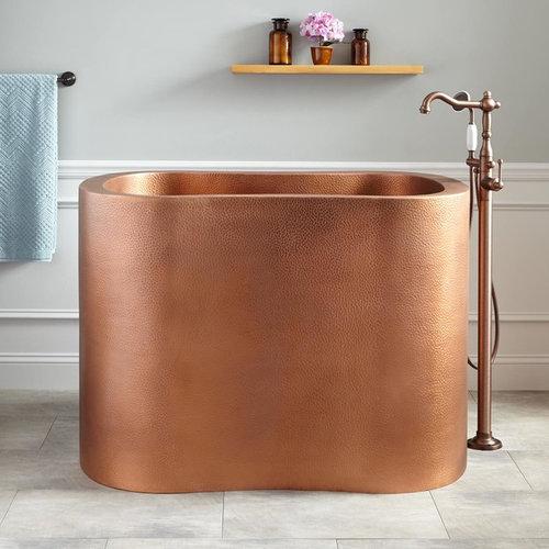 copper japanese soaking tub. 49  SILHOUETTE COPPER JAPANESE SOAKING TUB Bathtubs