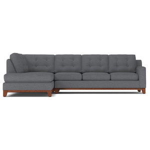 Enjoyable Acme Derwyn Sectional Sofa Light Brown Linen Contemporary Bralicious Painted Fabric Chair Ideas Braliciousco