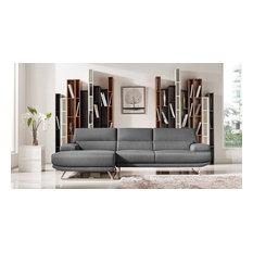 Vig Furniture Inc.   Divani Casa Trinidad Modern Gray Fabric Sectional Sofa    Sectional Sofas