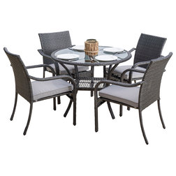 Fresh Transitional Outdoor Dining Sets by GDFStudio