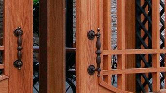 Двери наружные, массив дерева (ясень)
