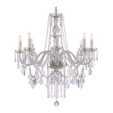 "8-Light Crystal Chandelier 33""x28"""