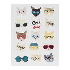 Intelligent Design Hip Cat Printed MDF Box