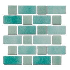 Seafoam Green Recycled Glass Tile, Sample