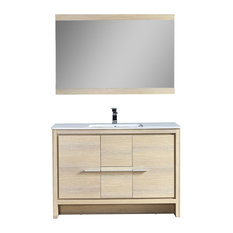 "Milan 48"" Vanity Set With Mirror, Briccole Oak"