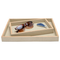 Manchester Faux Shagreen Tray Set, Ivory