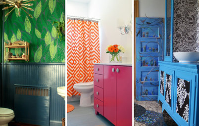 19 Bathrooms That Aren't Afraid of Color