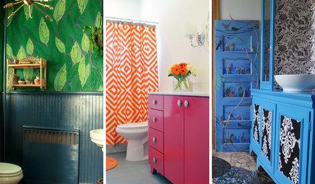 19 Bathrooms That Aren't Afraid of Color
