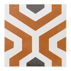 """Anabella 9""""x9"""" Porcelain Field Tile, Soumaya"""