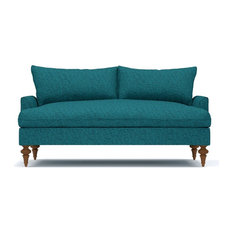 "Saxon Apartment Size Sofa, Chicago Blue, 72""x37""x32"""