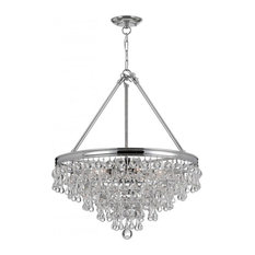 Crystal Teardrops For Chandelier: Crystorama - Crystorama Calypso 8 Light Crystal Teardrop Chrome Chandelier  - Chandeliers,Lighting