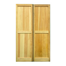 """Solid Wood Raised Panel Shutters, 15"""" W X 51"""" H, 1 Pair"""