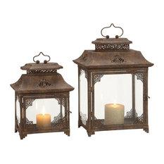 Grange Metal Lanterns, Set of 2
