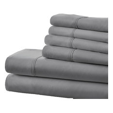 ienjoy home home collection ultrasoft luxury 6 piece bed sheet set gray
