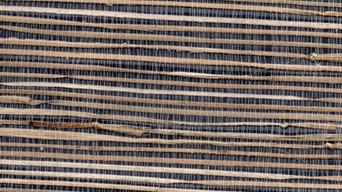 Autumn Denim Grasscloth Wallpaper