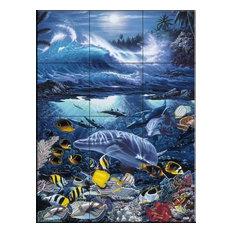 Tile Mural, Ocean Treasure by Christian Riese Lassen
