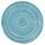 """Capel Rugs - Waterway Braided Round Rug, Blue, 5'6"""" - Reversible and durable, Capel braids are a hallmark of American tradition. Features: Construction: Braided Country of Origin: USASpecifications: Pile Height: 3/8"""" - 1/2"""""""
