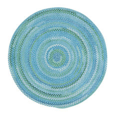 Waterway Braided Round Rug, Blue, 5'6""