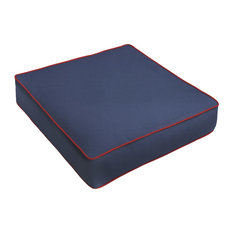 Sunbrella Navy Blue w/Jockey Red Outdoor De, 23.5x23